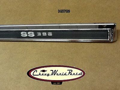 New 69 Chevelle Ss 396 Upper Glove Box Dash Trim Plate Molding