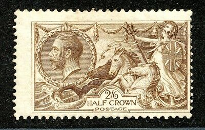 Great Britain Kgv Sea Horse Issue 2/6 Fine Mint.    A986