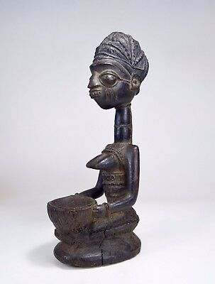 A Very Fine and Rare Yoruba Olumeye Offering Bowl, African Art
