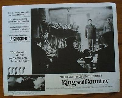 King and Country Lobby Collector Card Dirk Bogarde Tmo Courtenay Leo McKern