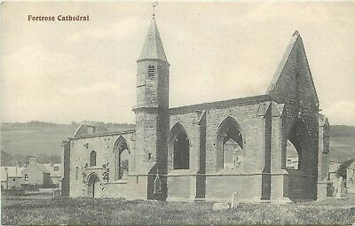 p0711 Fortrose Cathedral, Scotland postcard