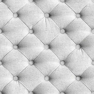 Muriva Grey Linen Diamond Wallpaper (J226-19) J22619 New Bluff Headboard