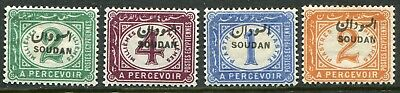 Sudan 1897 postage due opt. on Egypt 2m-2p SG D.1-D.4 hinged mint (cat. £21)