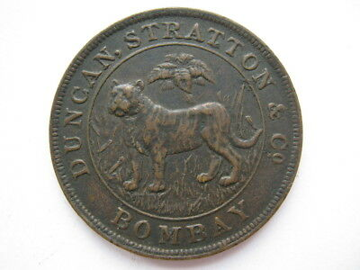 India Duncan Stratton & Co Rupee trial piece c.1905 GVF