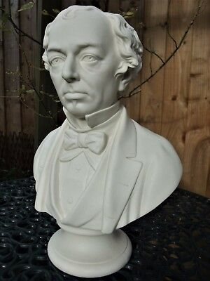 Antique 19Thc Large Parian Bust Of Disraeli Earl Beaconsfield British P.m C1867