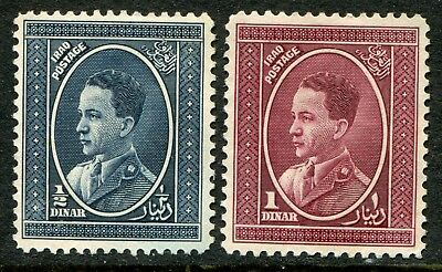 Iraq 1934-38 ½d & 1d SG 187 & 188 unused with NO GUM (cat. £86 as hinged mint)