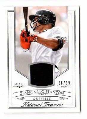 Giancarlo Stanton Mlb 2015 Panini National Treasures Mater(Florida/miami Marlins