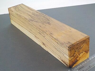 English Spalted Beech wood turning or carving blank.  75 x 75 x 405mm. 1368