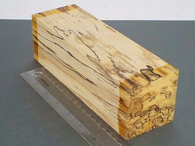 English Spalted Beech wood turning or carving blank.  63 x 63 x 200mm. 1370