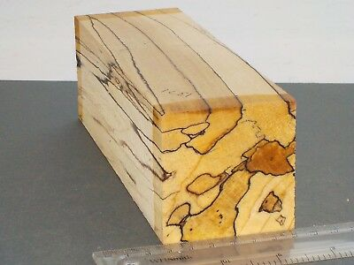English Spalted Beech wood turning or carving blank.  63 x 63 x 200mm. 1371