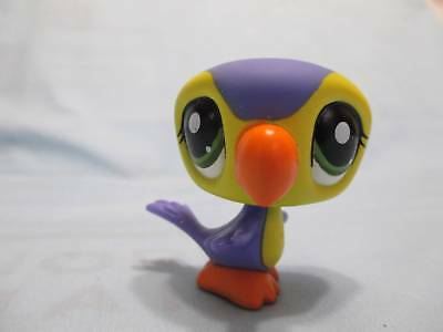 Littlest Pet Shop #1783 Bright Purple and Yellow Toucan Bird 100% Authentic LPS