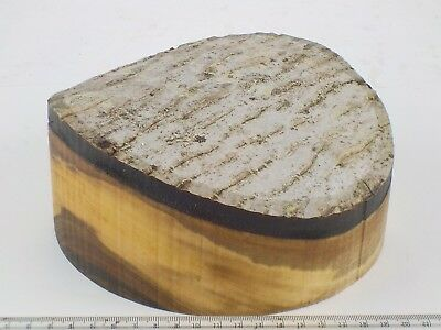 Waney faced English Walnut wood turning bowl blank.  180 x 80mm. 1378