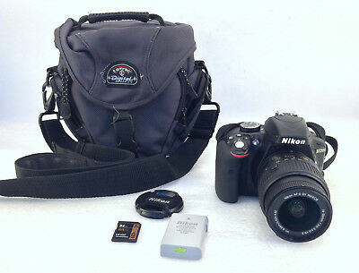 Nikon D3300 24.2 MP Digital SLR Camera w/Nikon Nikkor 18-55mm 1:3.5-5.6 G II