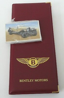 BENTLEY Centenary 1885-1985 25 picture card SET sealed & Display FOLDER.  N015E