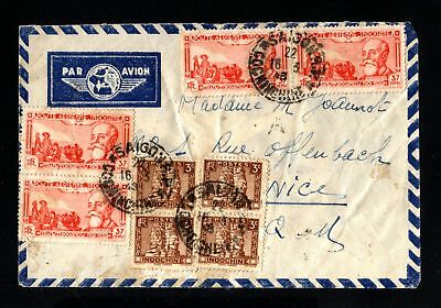17409-INDOCHINA-AIRMAIL COVER SAIGON to NICE (france).1948.WWII.Indochine.
