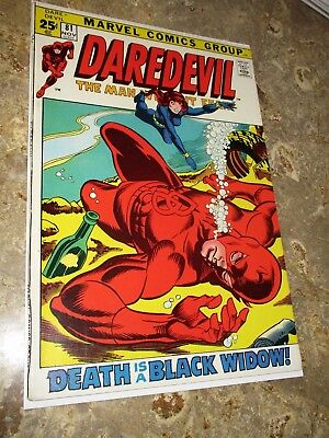 DAREDEVIL #81 (1971) 1st Black Widow & DD Team-Up! Bronze Age Marvel Comic Key