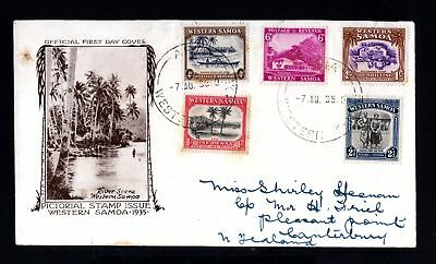 17493-WESTERN SAMOA-FDC.COVER APIA to CANTERBURY (new zealand) 1935.WWII.British