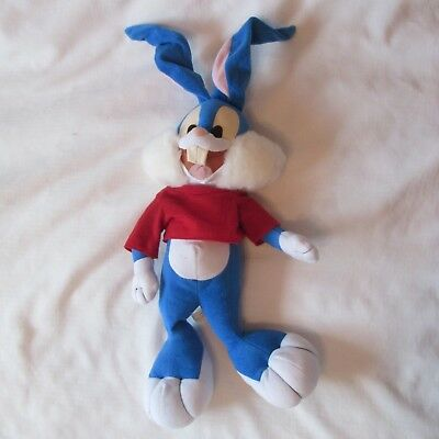 1993 BUSTER BUNNY plush DOLL TINY TOON ADVENTURES WARNER BROS 28""