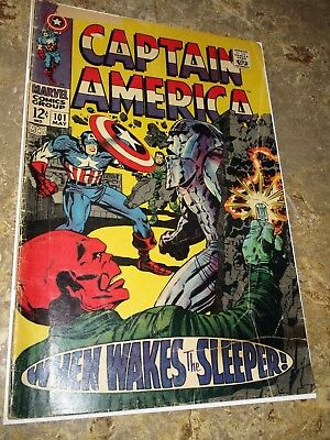 Captain America #101 Silver Age Comic Book~ Red Skull~When Wakes the Sleeper