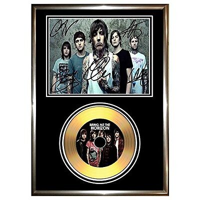 Bring Me The Horizon - Signed Framed Gold Vinyl Record Cd & Photo Display
