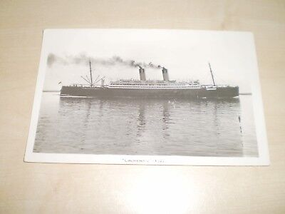 """1927 White Star Line """"Laurentic"""" Liner Plain Back Photo By Nautical Photo Agency"""