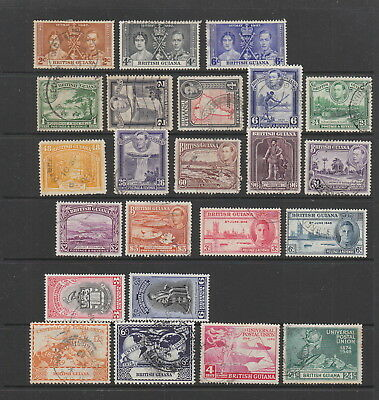 British Guiana KGVI used collection. values to $3