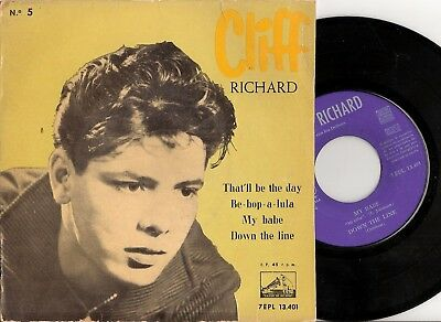 Cliff Richard & the Drifters - That'll be the Day + 3 - Spanish vinyl EP 45