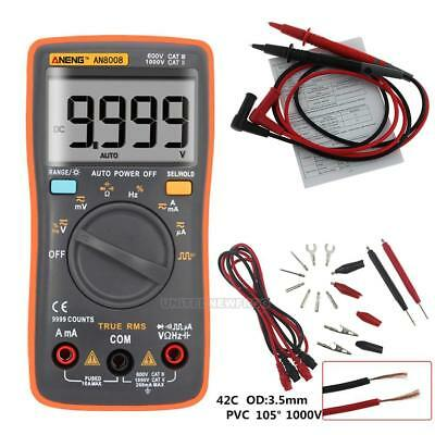 AN8008 True-RMS Digital Multimeter 9999 zählt Square Wave Backlight AC DC