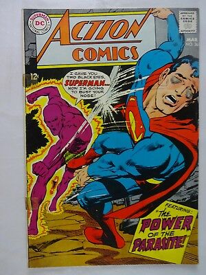 Action Comics #361   Superman   Supergirl   Parasite   Perry White   Neal Adams