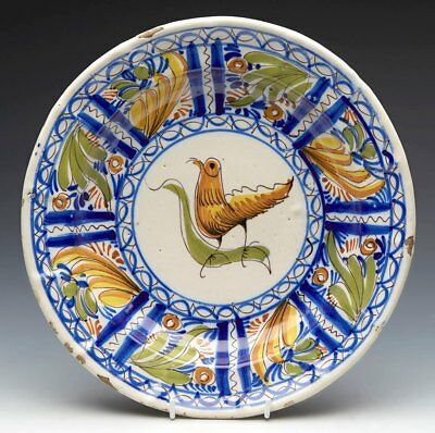 Antique Continental Faience Dish 18Th C.