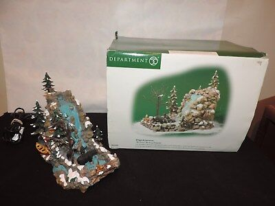 Dept 56 Mill Falls Working Waterfall Christmas Village 52503 Bears Stream Snow