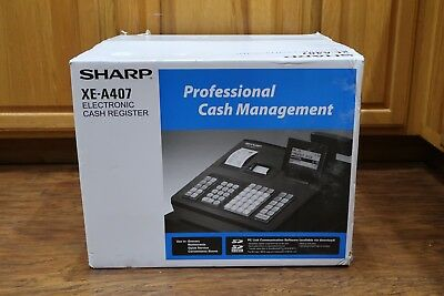 Sharp XE-A407 Advanced Reporting Cash Register New Sealed Box
