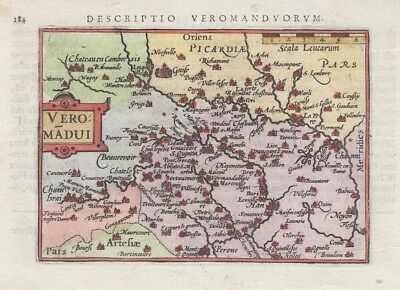 1603 Fine Bertius Map of Picardy, France
