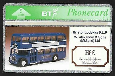 BTG107 EFE BEDFORD BUS MINT BT PHONECARD CATALOGUE PRICE £20 ONLY 500 pcs