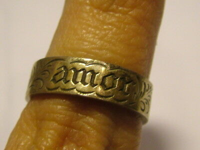 Silver French Phrase Ring
