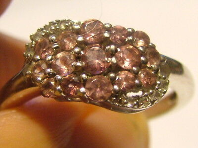 Silver Pink Topaz Ring