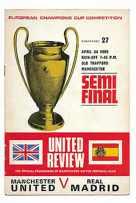 1968 European Cup Semi Final 1st Leg - MANCHESTER UNITED v. REAL MADRID