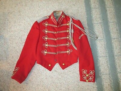 Vtg Marching Band Sgt Peppers Uniform Jacket Brass Buttons