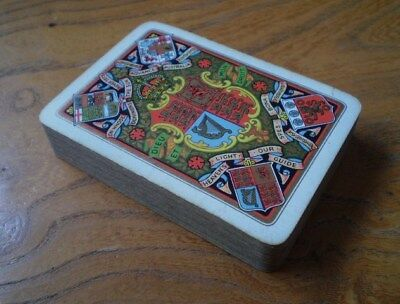 GOODALL London Complete (52 cards) Arms GB & Empire Colours & gold on grey 1900s