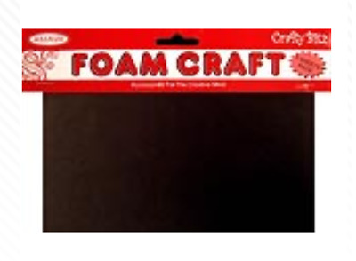 1mm A4 Black Foam Craft Sheet 3 Pack