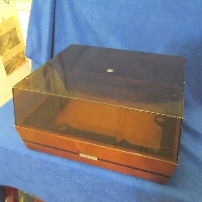 United Audio Dual 1228 Wood Plinth with Dust Cover no Turntable.