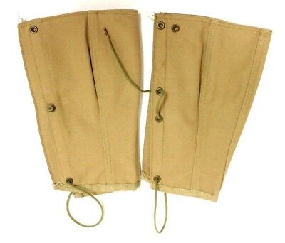 Vintage WWI US Army Canvas Leggings, Dated 1918, Size 1