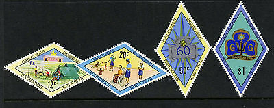 Barbados 479-82 MNH Girl Guides, Crests