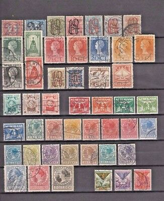 Nice Lot Collection 48 X Used Old Netherlands 1923-1927 Cv $ 140.00 : $ 1.00 !?!