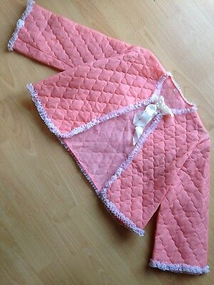 Peachy Pink Vintage 1950 Nylon Frilly Bed Jacket House Clearance Find Wow