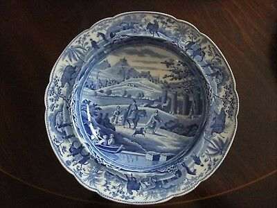 "Antique Early 19Th Spode Soup Bowl Caramanian Series - ""city Of Corinth"" C1810"