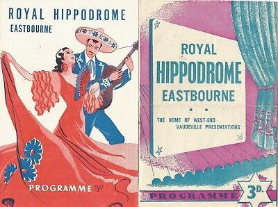 1949/53 Three Variety Programmes From  Hippodrome Eastbourne