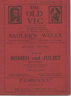 """Super Collection Of Vintage """"shakespeare"""" Theatre Programmes"""