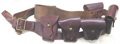 Original Named & Numbered Lee Enfield P-03 Leather Bandolier-S. African Marked