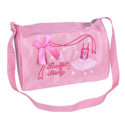 Ballet Duffle Bag Gym Shoulder Bag Dance Training Tote Bowknot Dress Embroidery